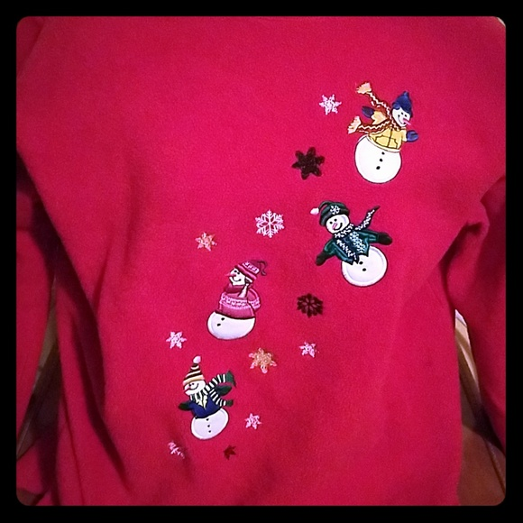 Basic Editions Sweaters - Ugly Christmas sweater soft fleece snowman